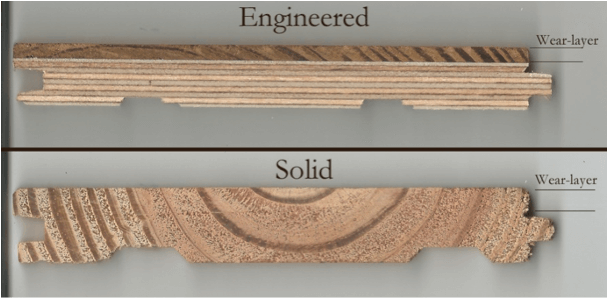 Solid hardwood vs. engineered
